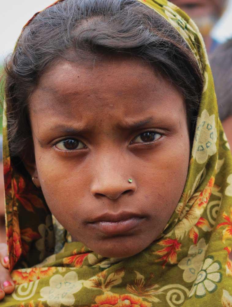 Indyjska dziewczynka w chuście