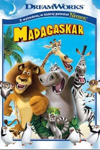 okładka dvd bajki madagaskar