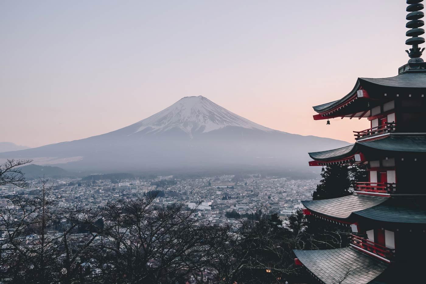 Japonia, widok na górę Fuji