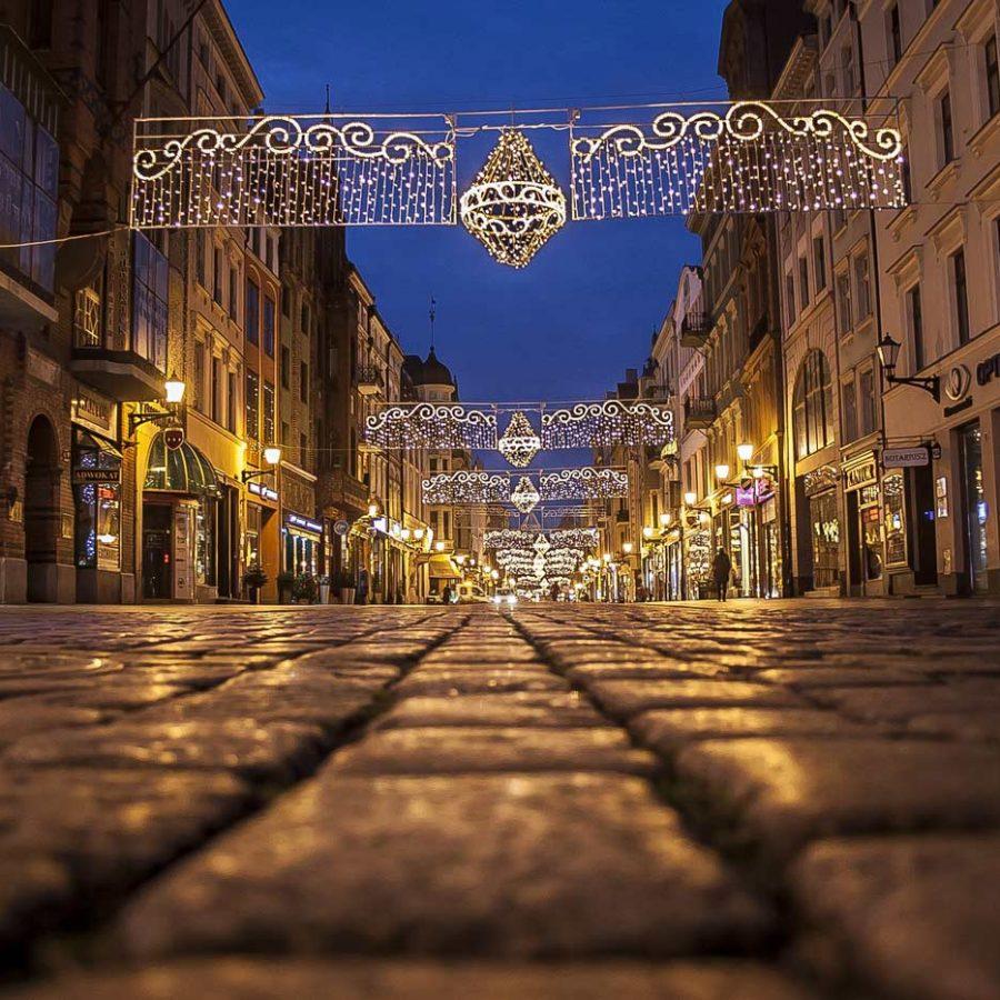 Toruńska starówka wieczorową porą